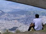 Looking down at Quito