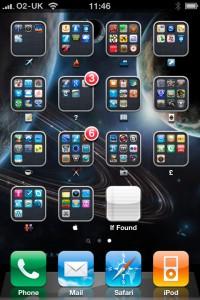 iPhone 4 folders