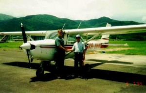 Wilson Au-Yeung after his first solo at Sek Kong